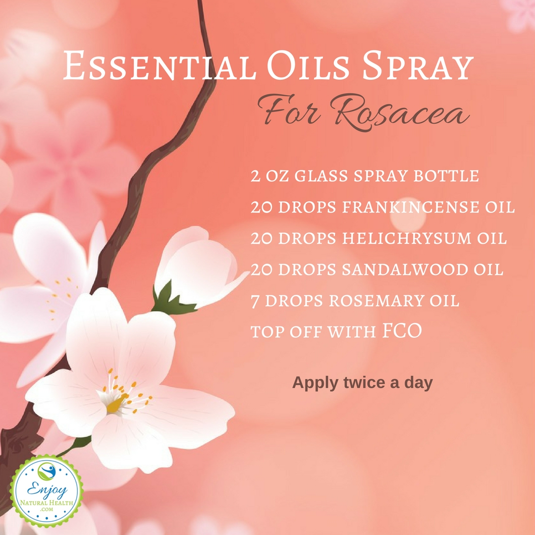 Essential Oils Spray for Rosacea