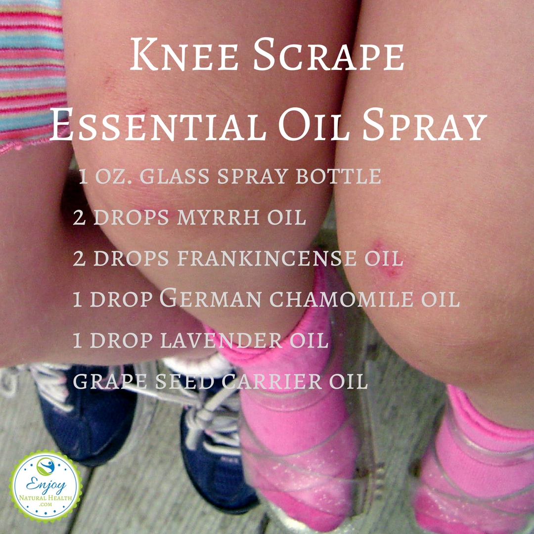 Knee Scrapes Essential Oil Spray