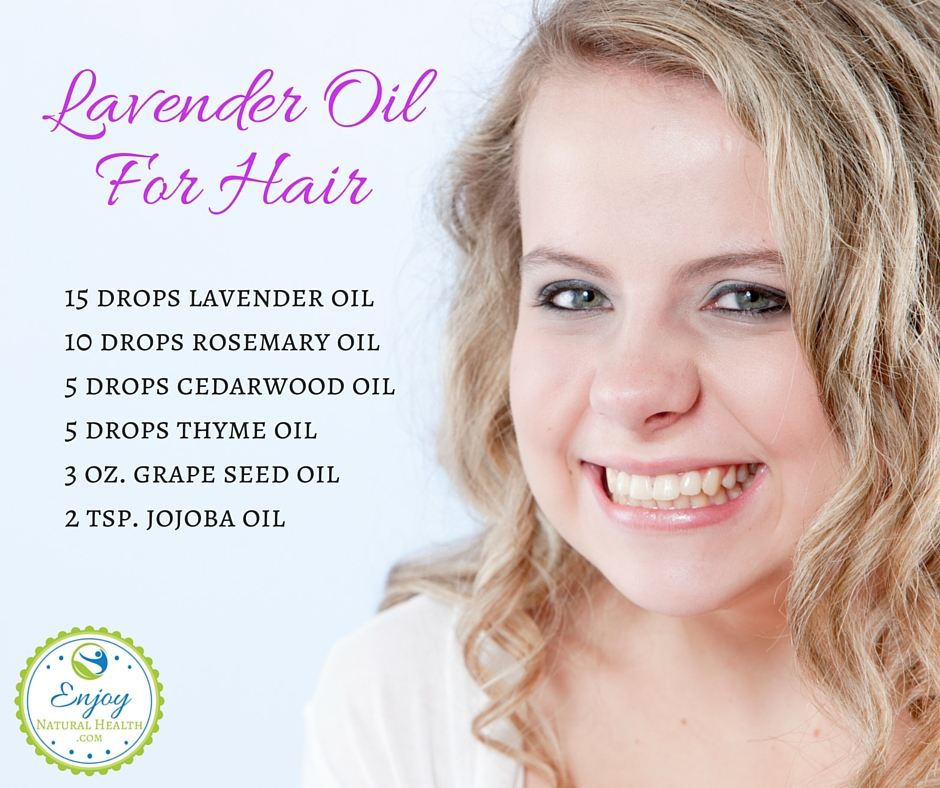 Lavender oil for hair - massage this mixture into your scalp and wrap your head in a towel for at least 30 minutes (after the first couple times, if your scalp feels good, you might want to try keeping it on overnight). Then wash your hair as normal. Repeat twice a week, end enjoy your beautiful growing hair :)