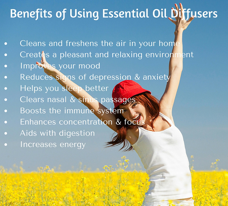 Essential oil diffusers are wonderful. Check out the many benefits of suing essential oil diffusers.