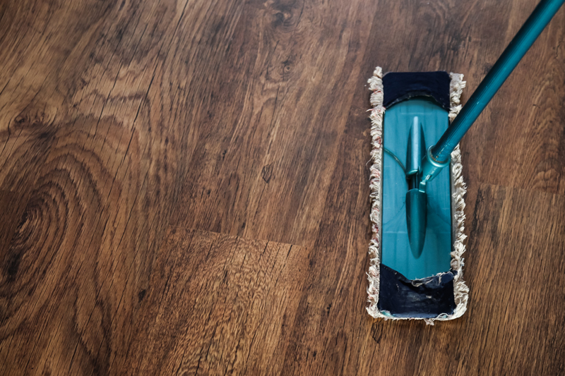 Essential oils are great for cleaning wood floors: check out the recipe here.