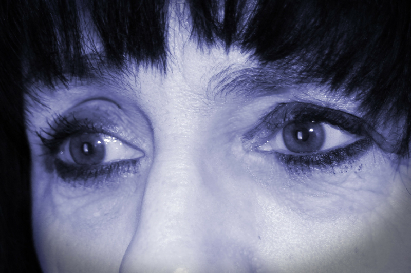 Sad eyes of a depressed woman