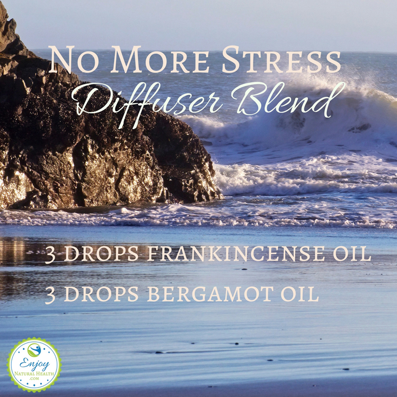 Any time you feel stressed, get 3 drops of frankincense oil and 3 drops of bergamot essential oil and start diffusuing. It will help get rid of the stress so you can relax.