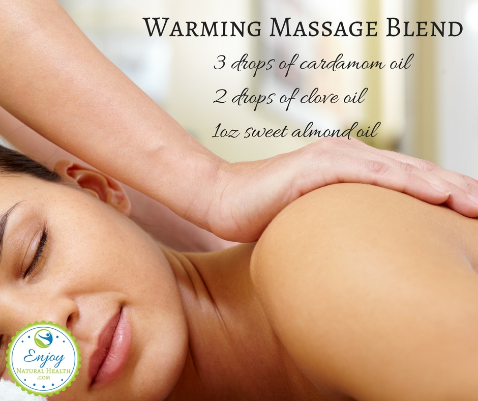 Use this warming massage blend to relax you after a hard day's work. Massage is just one of the ways to use essential oils.