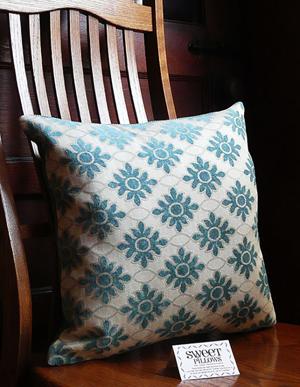 diamond motif pillow