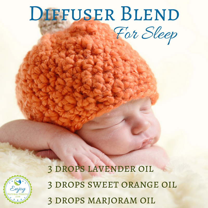 This is a great diffuser blend for sleep. Made with lavender, sweet orange and marjoram oils, it's the perfect invitation to relax into slumber ;)