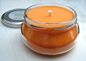 orange soy candle