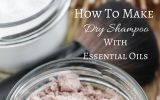 dry shampoo with essential oils