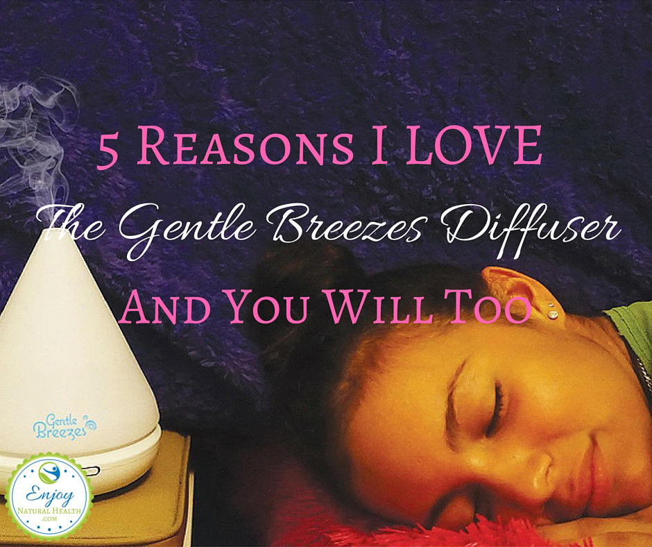 gentle breezes diffuser in action