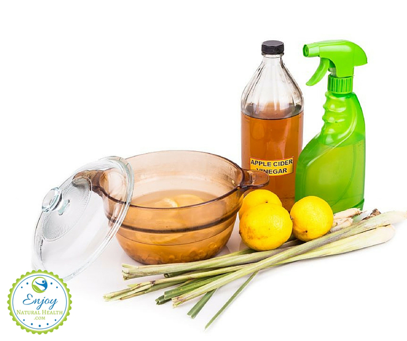 Homemade Mosquito Repellents, made with apple cider vinegar, lemon jouce, lemongrass oil: safe and effective formula to repel mosquito, fleas and bugs
