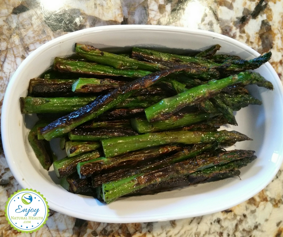 Delicious broiled asparagus