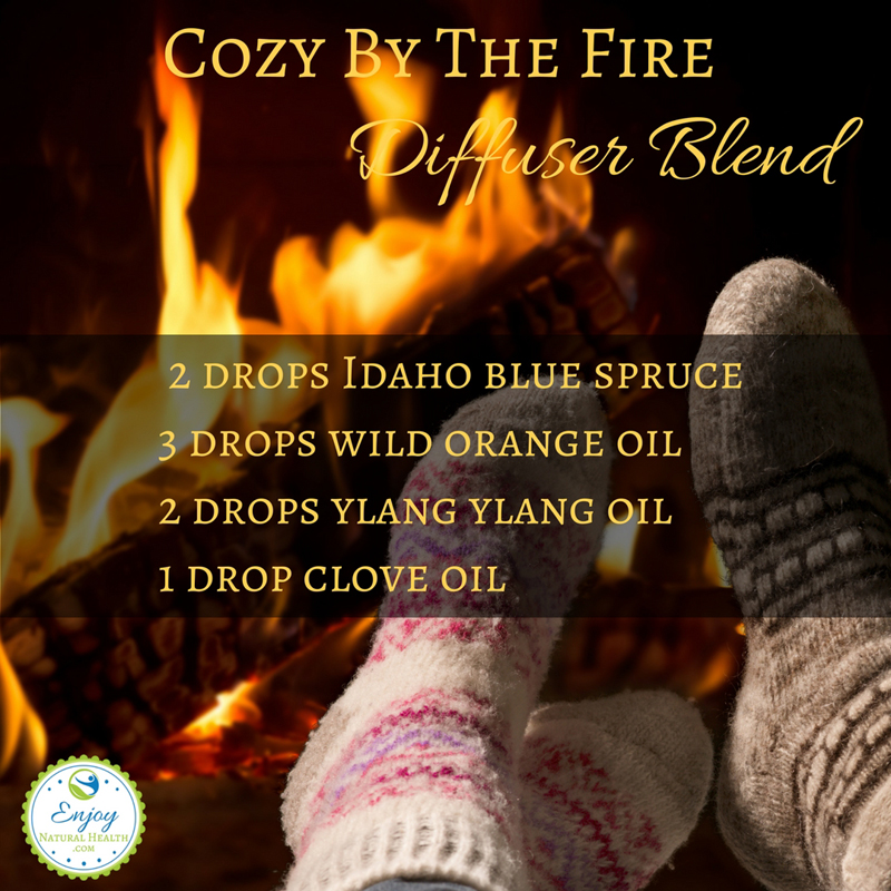 Cozy by the fire diffuser blend, perfect for a cool autumn day