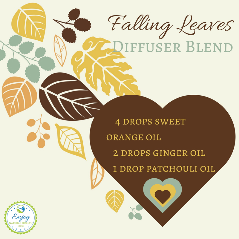 Falling leaves diffuser blend - perfect for a cozy autumn evening