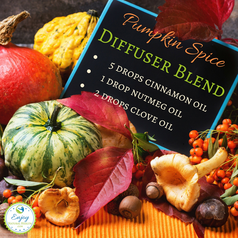 Ditch the candles (with all the chemicals they contain) and enjoy the scent of fall with this pumpkin spice diffuser blend
