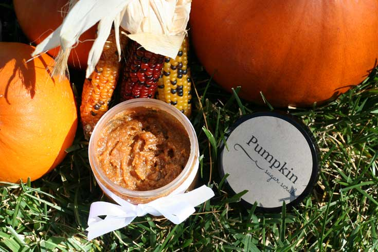This pumpking sugar scrub recipe is perfect for this time of the year: the pumpkin spice scent is warm, and inviting!