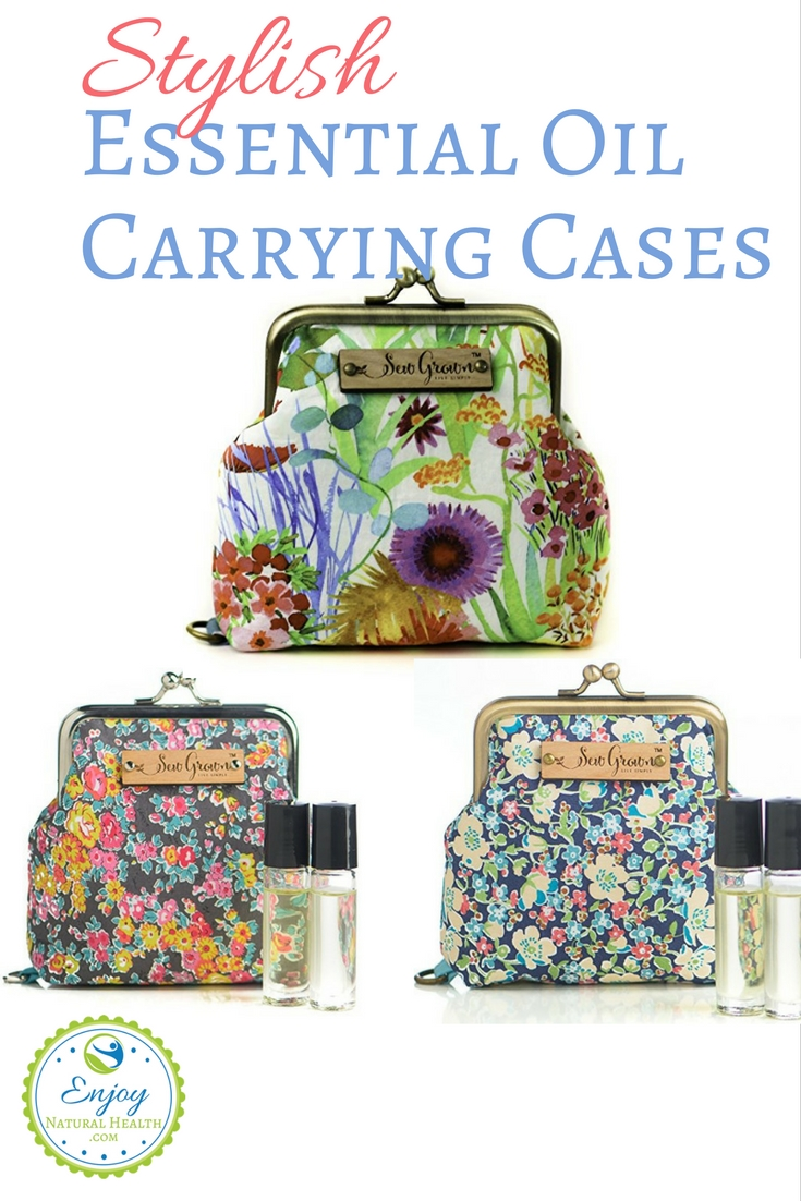Looking for a stylish essential oil carrying case? You'll LOVE these! GORGEOUS looking, and perfect for taking your oils everywhere.