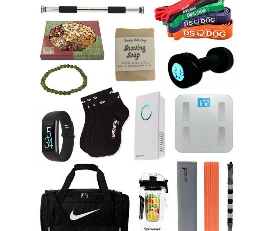 Here's a nice list of healthy gifts for men :)