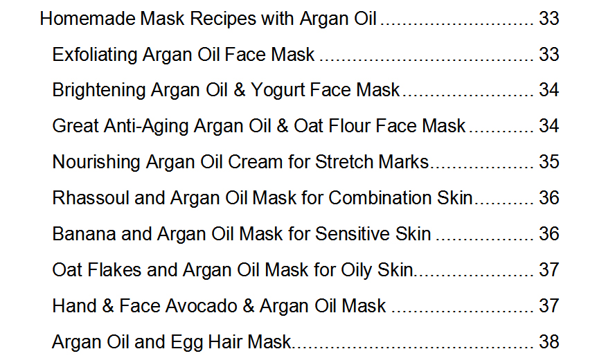 homemade recipes with argan oil