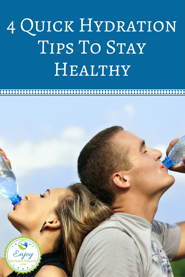 Are you staying well hydrated? Some well known dehydration effects are dizziness, headaches, constipation, dry skin, kidney stones, muscle pain, and more. Here are 4 quick and easy ways to keep yourself hydrated!