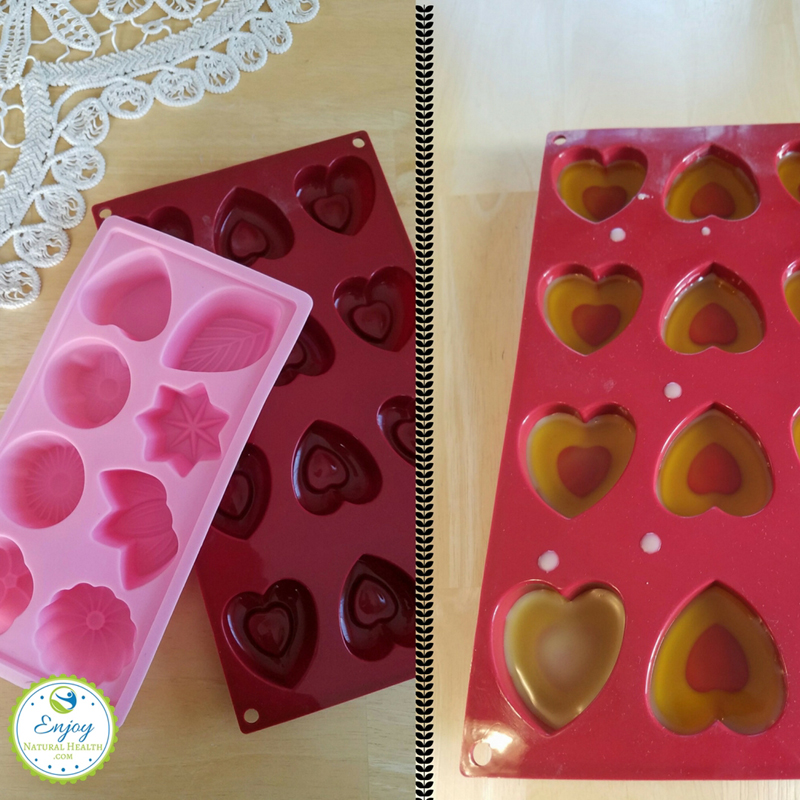 These silicone molds are great for lotion bars: cute anf the perfect size for little gifts