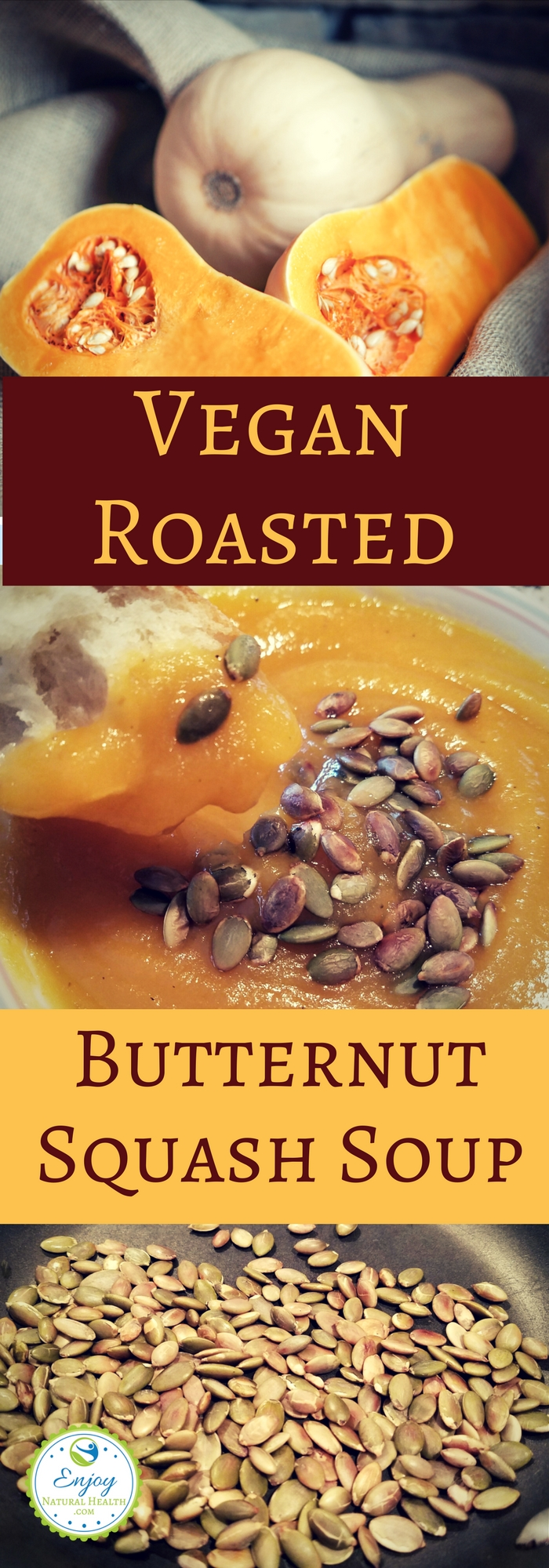 This healthy roasted butternut squash soup is easy to make and DELICIOUS!