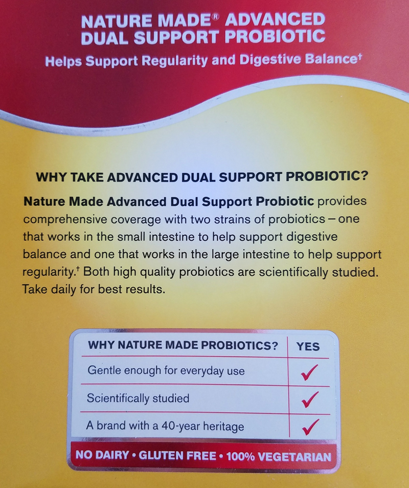 Nature Made Digestive Probiotics Support Regularity