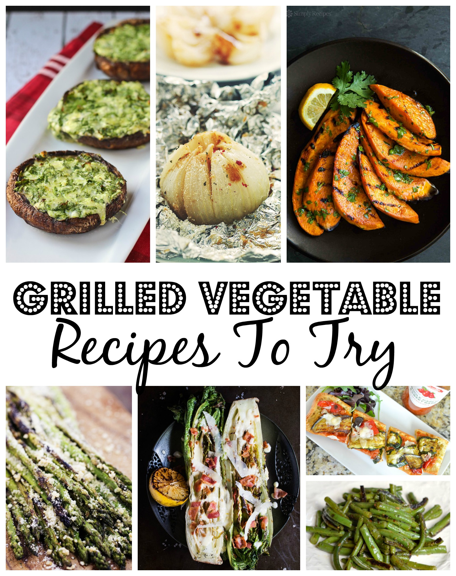 Here are just a few grilled vegetable recipes to try this summer. Enjoy!