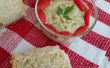This roasted eggplant spread is to die for: smooth and creamy, it willl become your favorite spread