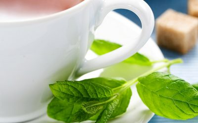 A refreshing cup of peppermint tea