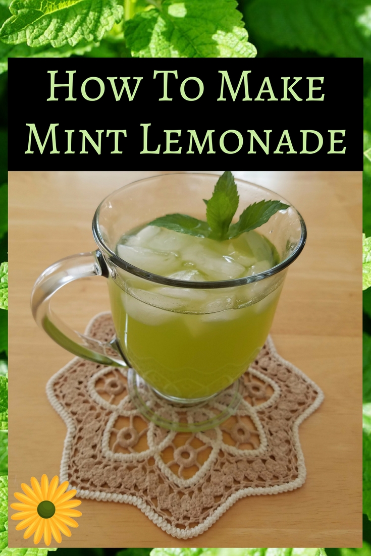 How to make mint lemonade with fresh mint from your garden. It's easy, healthy and refreshing.