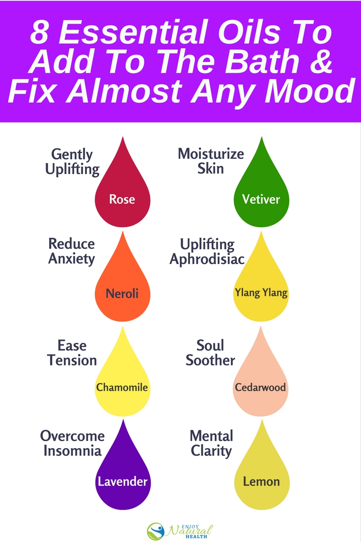 Add These 8 Essential Oils To Your Bath Fix Almost Any Mood Enjoy Natural Health