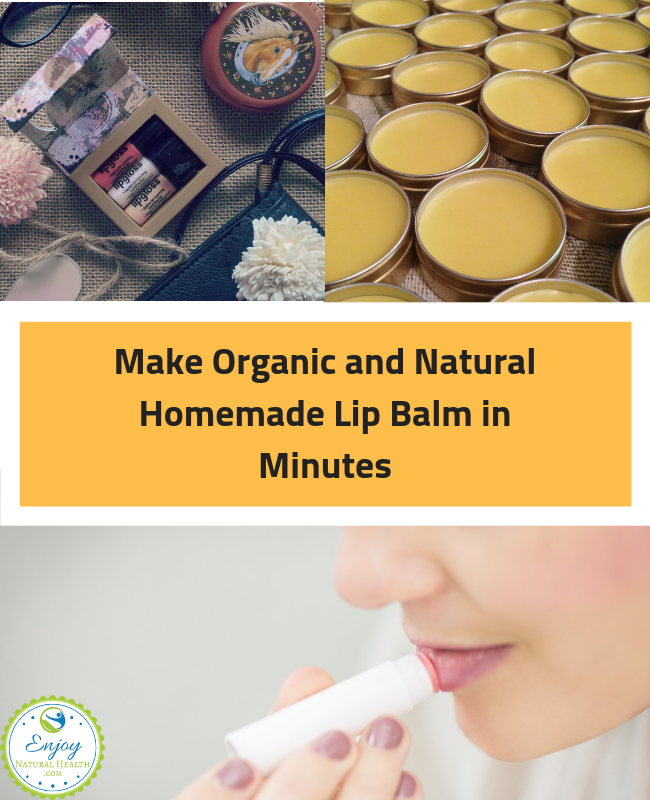 Natural Homemade Lip Balm in Minutes